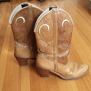Vintage cowgirl boots vegan 6.5